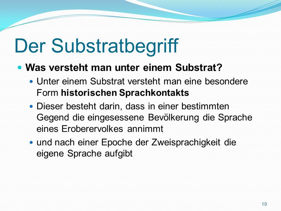 Der Substratbegriff Was versteht man unter einem Substrat