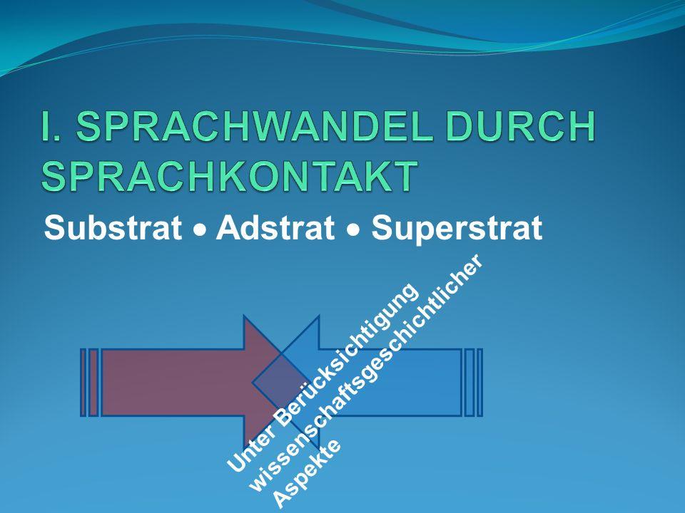I. SPRACHWANDEL DURCH SPRACHKONTAKT