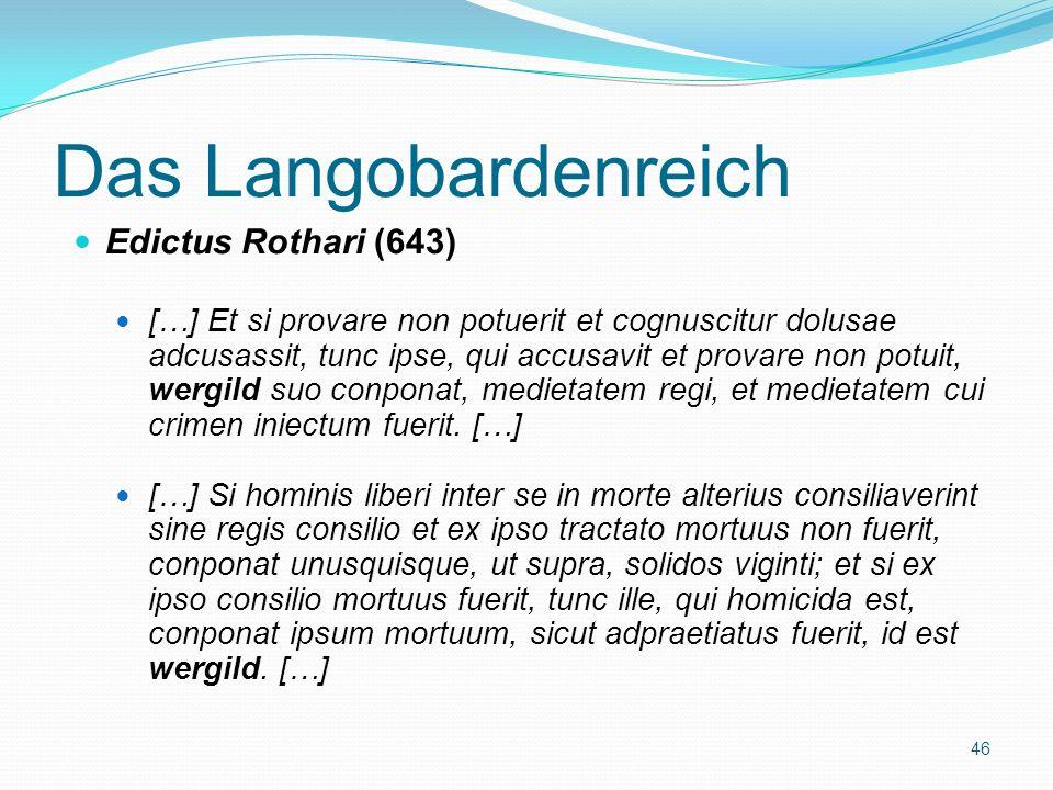 Das Langobardenreich Edictus Rothari (643)