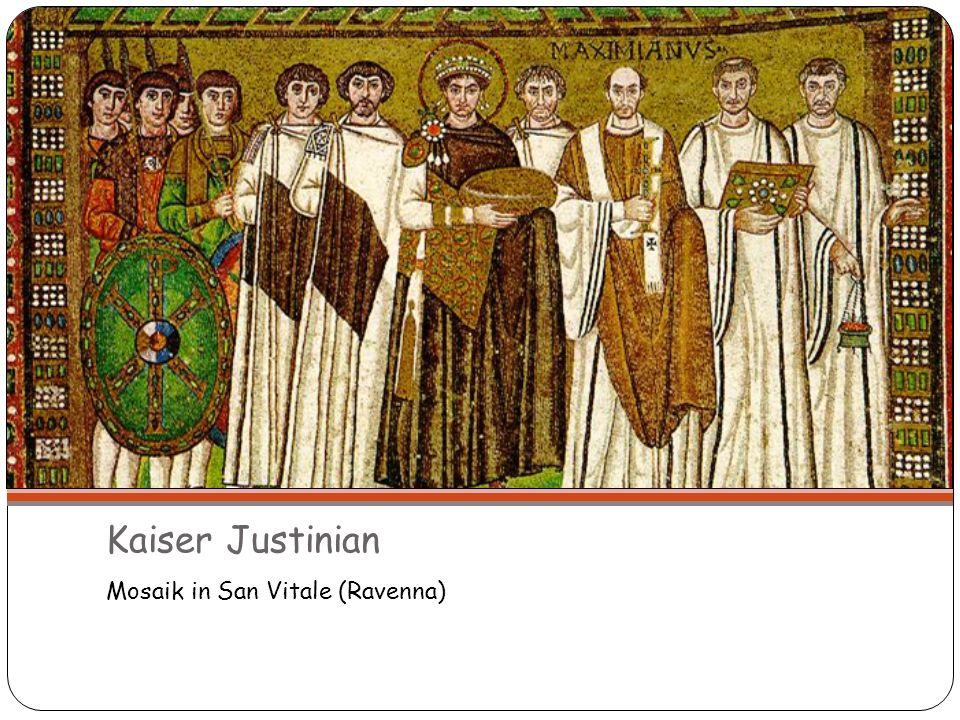 Kaiser Justinian Mosaik in San Vitale (Ravenna)