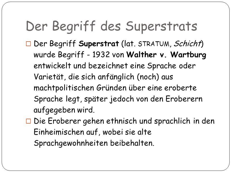 Der Begriff des Superstrats