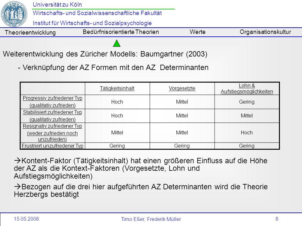 Weiterentwicklung des Züricher Modells: Baumgartner (2003)