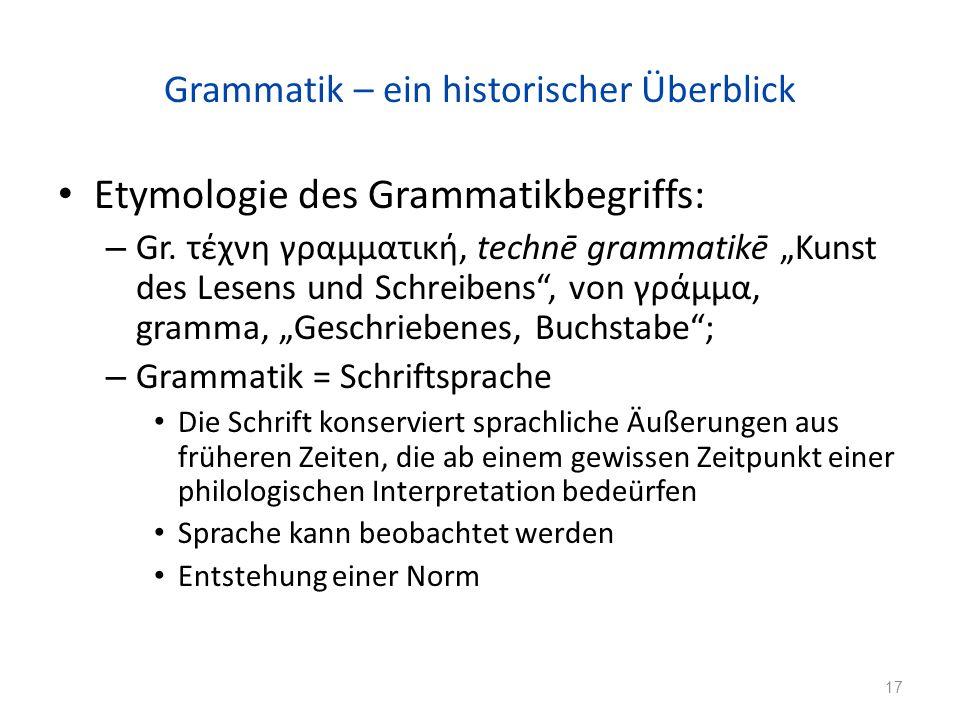Grammatik – ein historischer Überblick