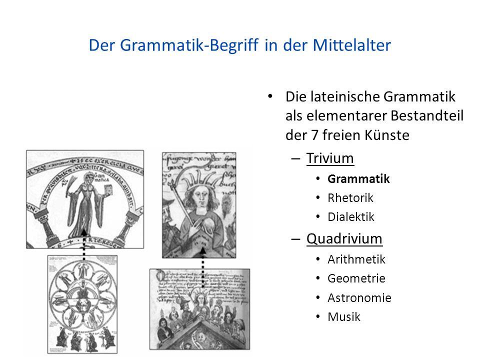 Der Grammatik-Begriff in der Mittelalter