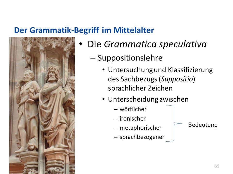 Der Grammatik-Begriff im Mittelalter