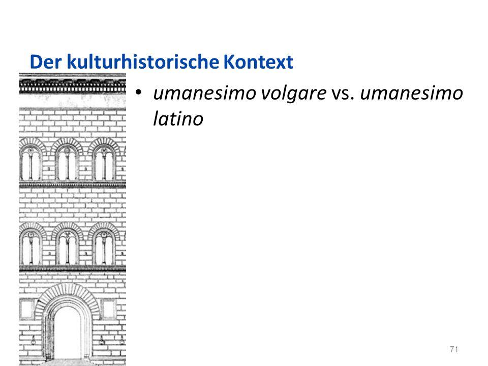 Der kulturhistorische Kontext