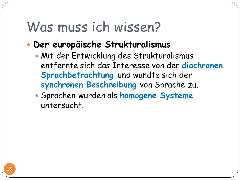 Was muss ich wissen Der europäische Strukturalismus