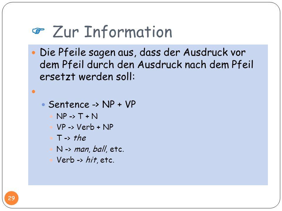  Zur InformationDie Pfeile sagen aus, dass der Ausdruck vor dem Pfeil durch den Ausdruck nach dem Pfeil ersetzt werden soll: