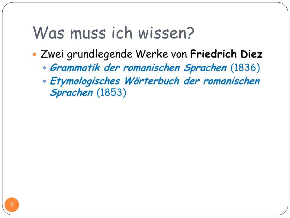 Was muss ich wissen Zwei grundlegende Werke von Friedrich Diez