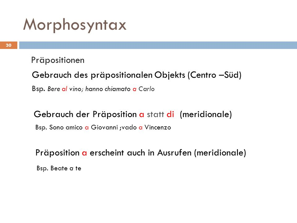 Morphosyntax Präpositionen