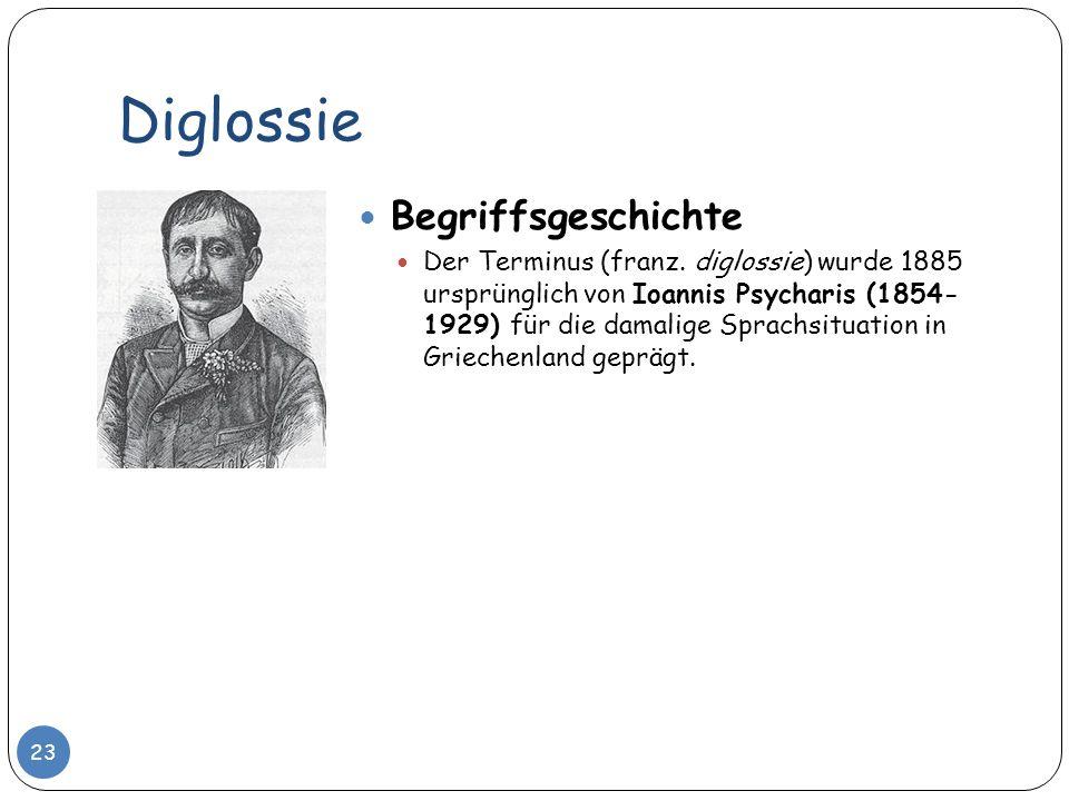 Diglossie Begriffsgeschichte