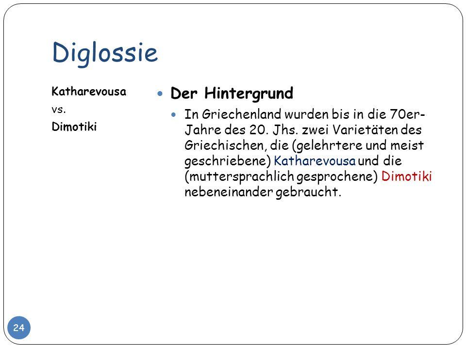Diglossie Der Hintergrund
