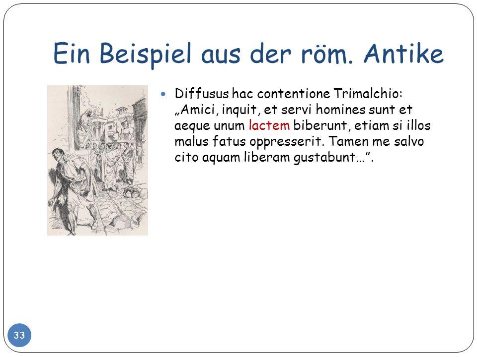 Ein Beispiel aus der röm. Antike