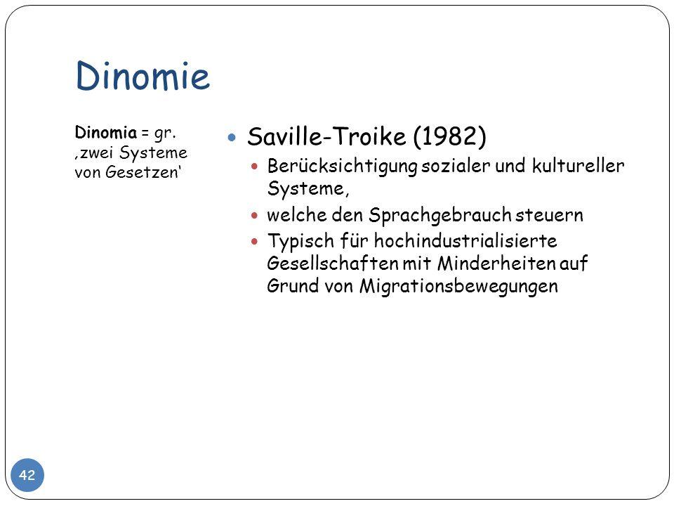 Dinomie Saville-Troike (1982)