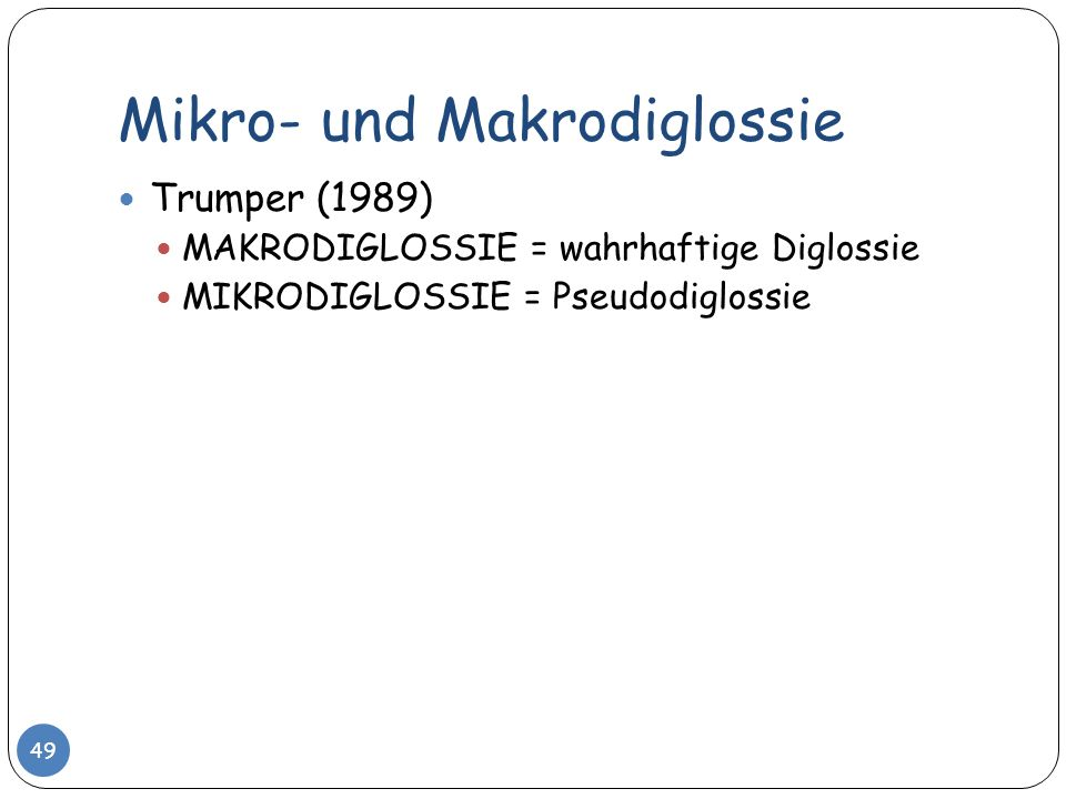 Mikro- und Makrodiglossie