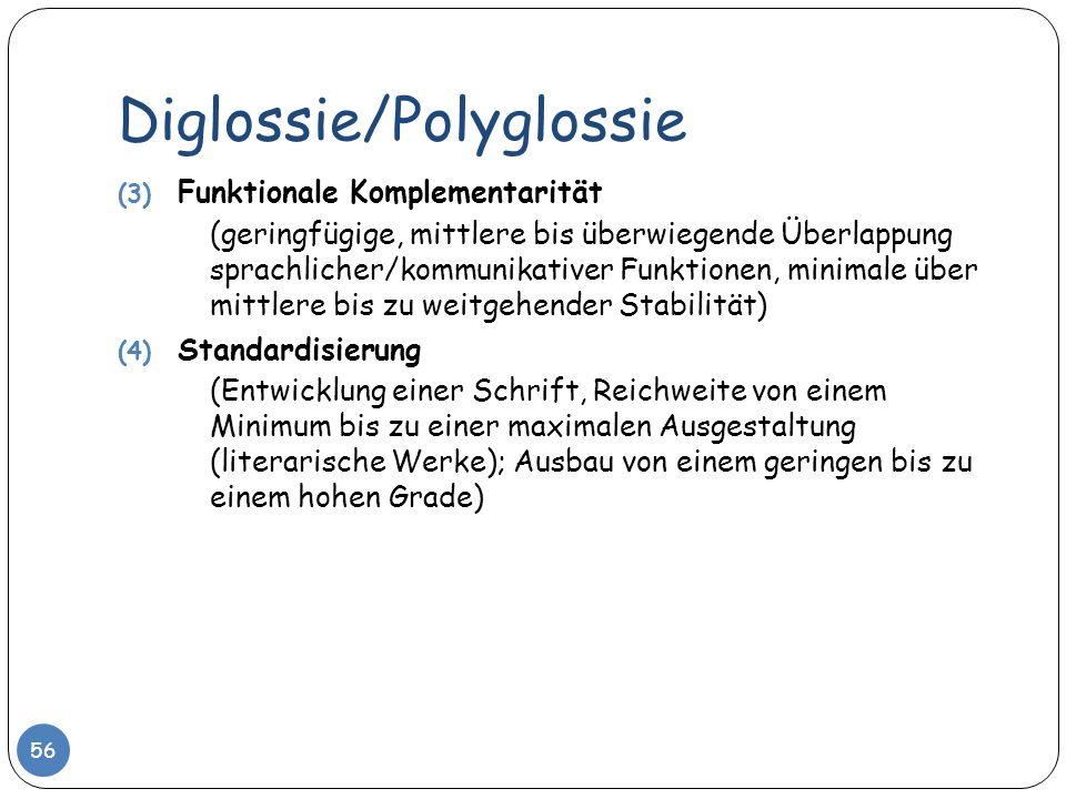 Diglossie/Polyglossie