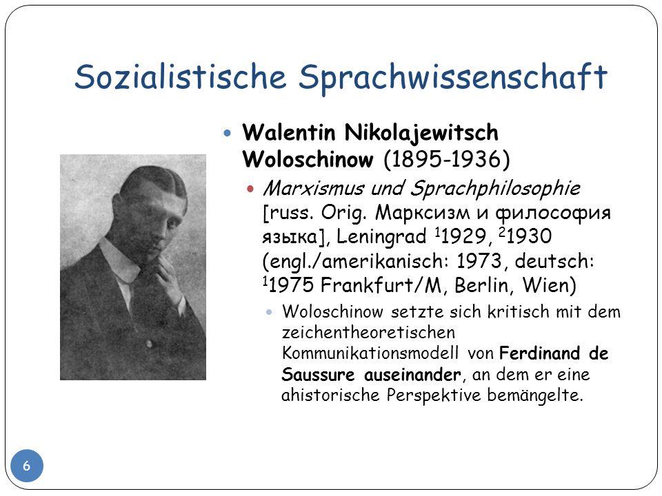Sozialistische Sprachwissenschaft