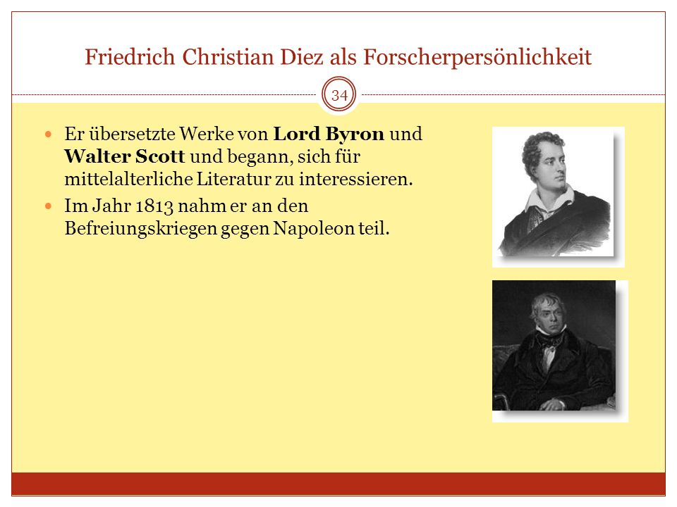 Friedrich Christian Diez als Forscherpersönlichkeit