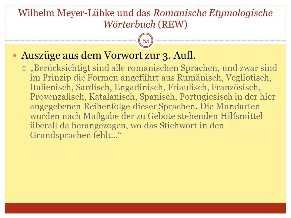 Wilhelm Meyer-Lübke und das Romanische Etymologische Wörterbuch (REW)