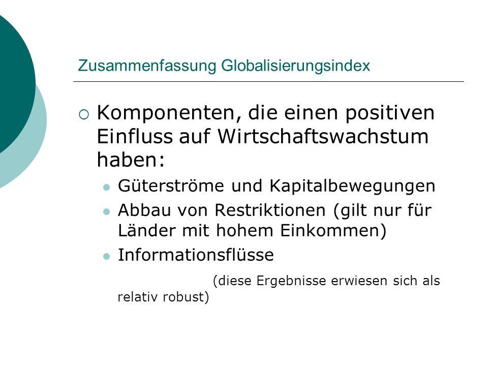 Zusammenfassung Globalisierungsindex