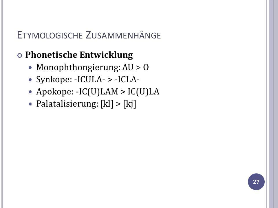 Etymologische Zusammenhänge