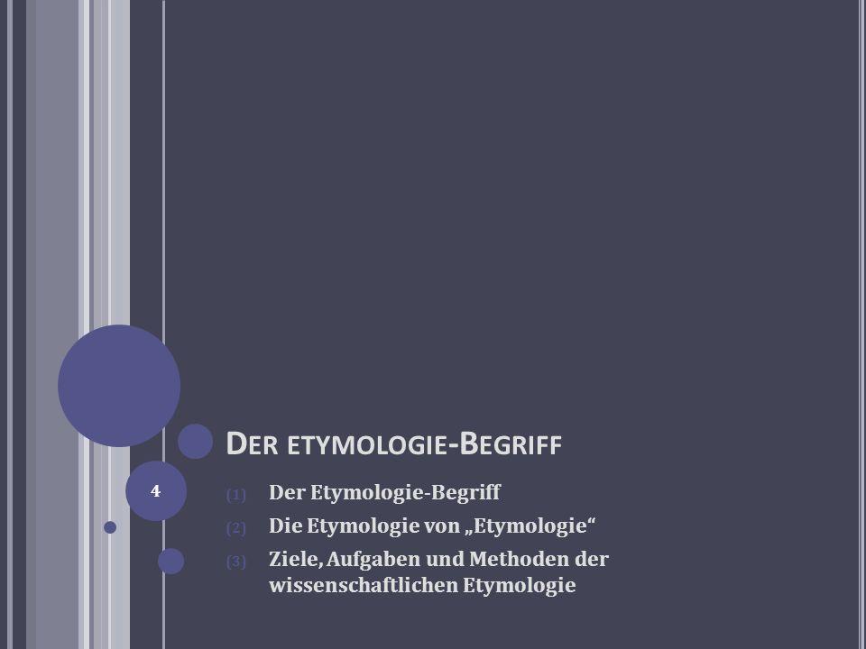 Der etymologie-Begriff