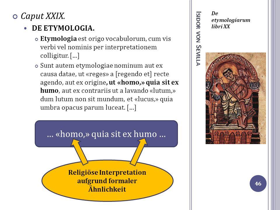 Religiöse Interpretation aufgrund formaler Ähnlichkeit