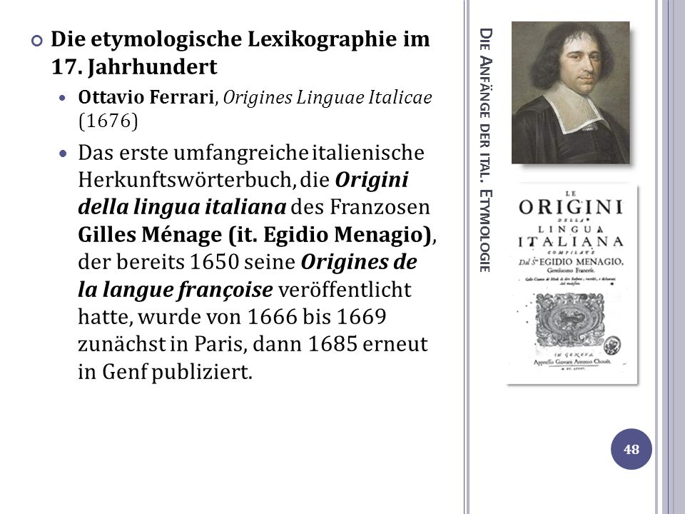 Die Anfänge der ital. Etymologie