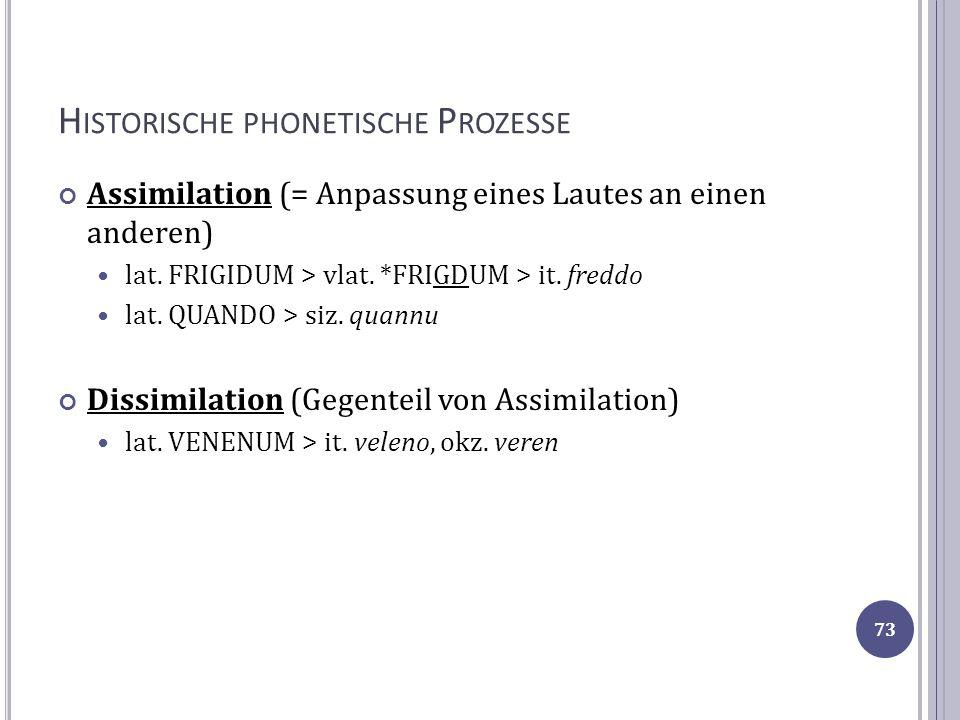 Historische phonetische Prozesse