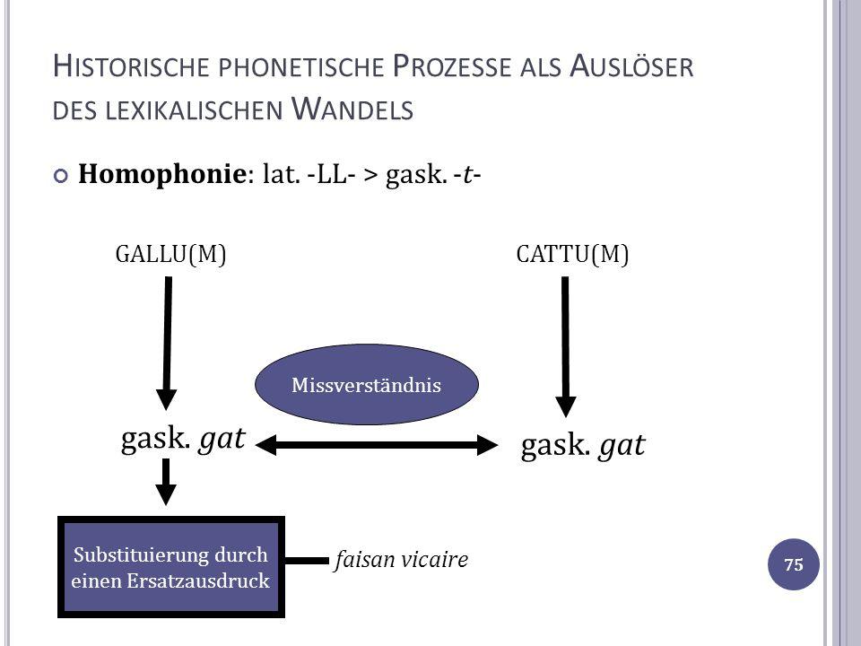 Historische phonetische Prozesse als Auslöser des lexikalischen Wandels