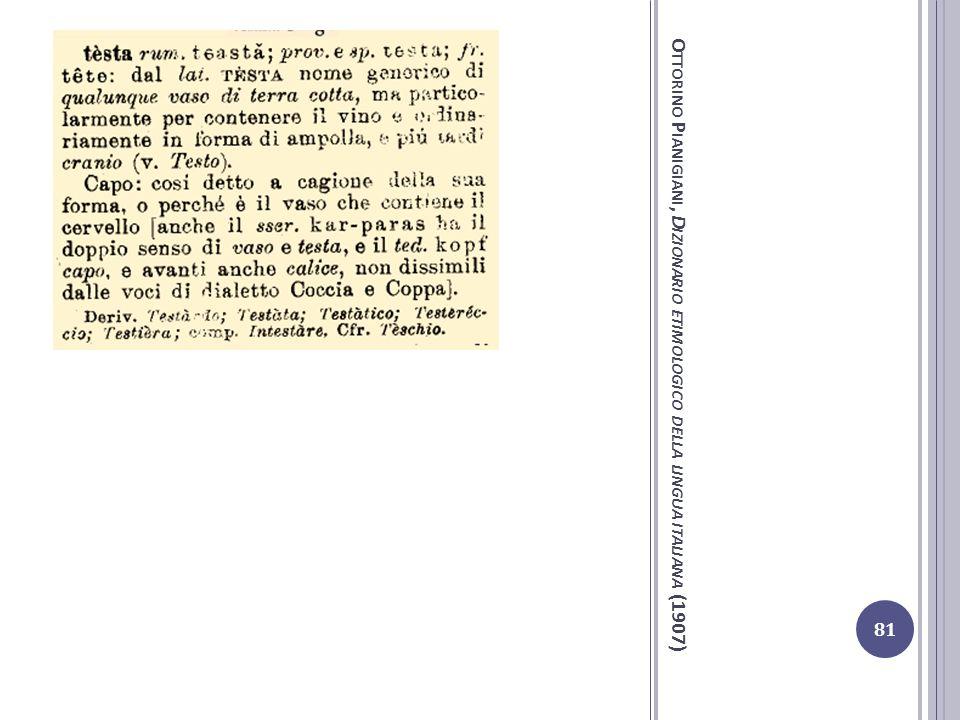 Ottorino Pianigiani, Dizionario etimologico della lingua italiana (1907)