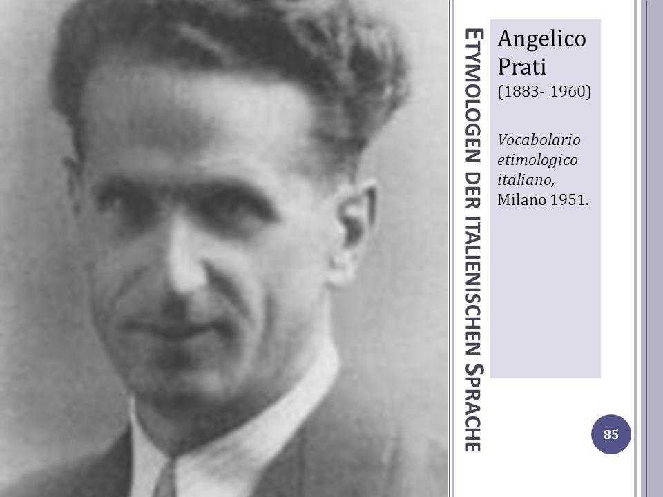 Etymologen der italienischen Sprache