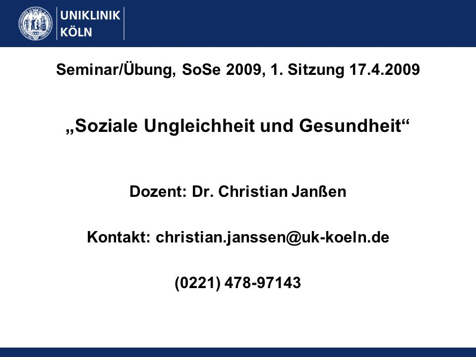Seminar/Übung, SoSe 2009, 1. Sitzung 17.4.2009