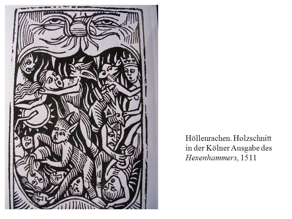 Höllenrachen. Holzschnitt in der Kölner Ausgabe des Hexenhammers, 1511