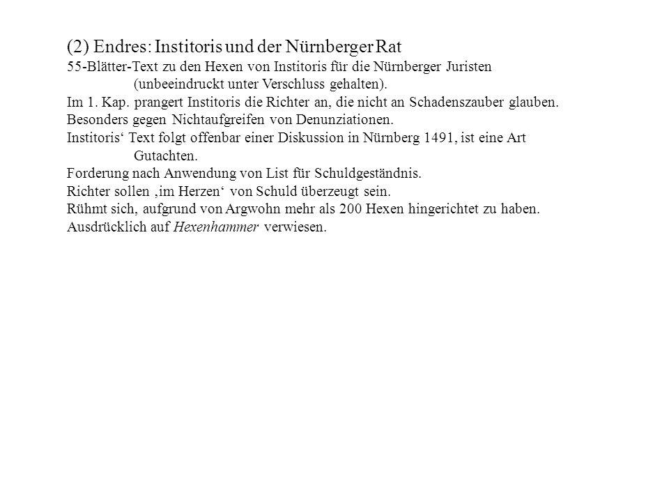 (2) Endres: Institoris und der Nürnberger Rat