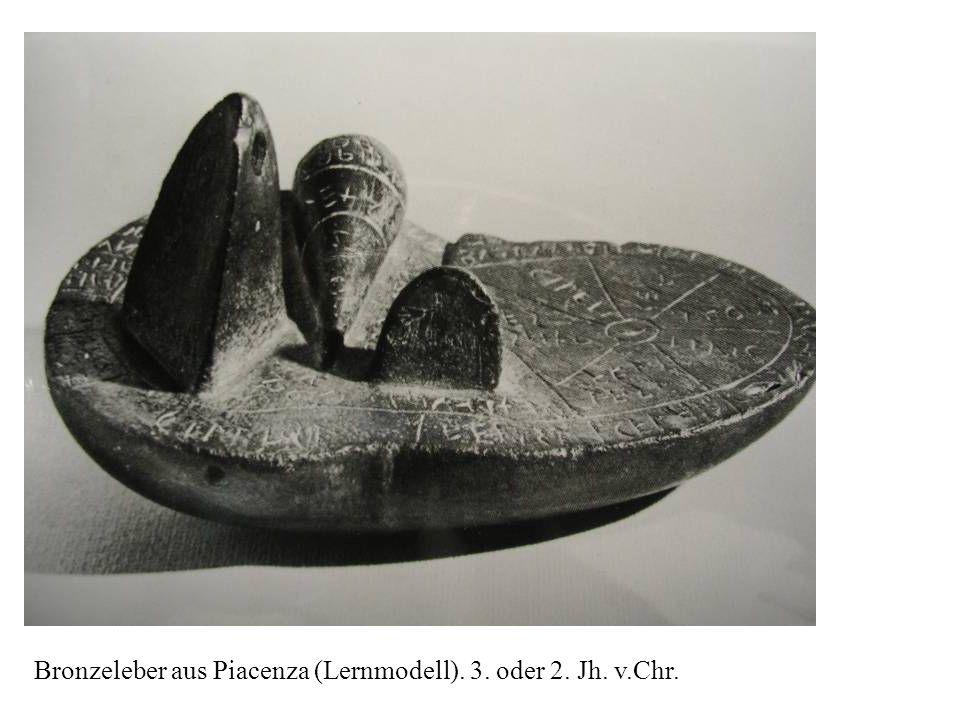 Bronzeleber aus Piacenza (Lernmodell). 3. oder 2. Jh. v.Chr.