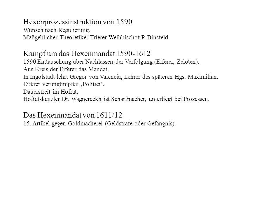 Hexenprozessinstruktion von 1590