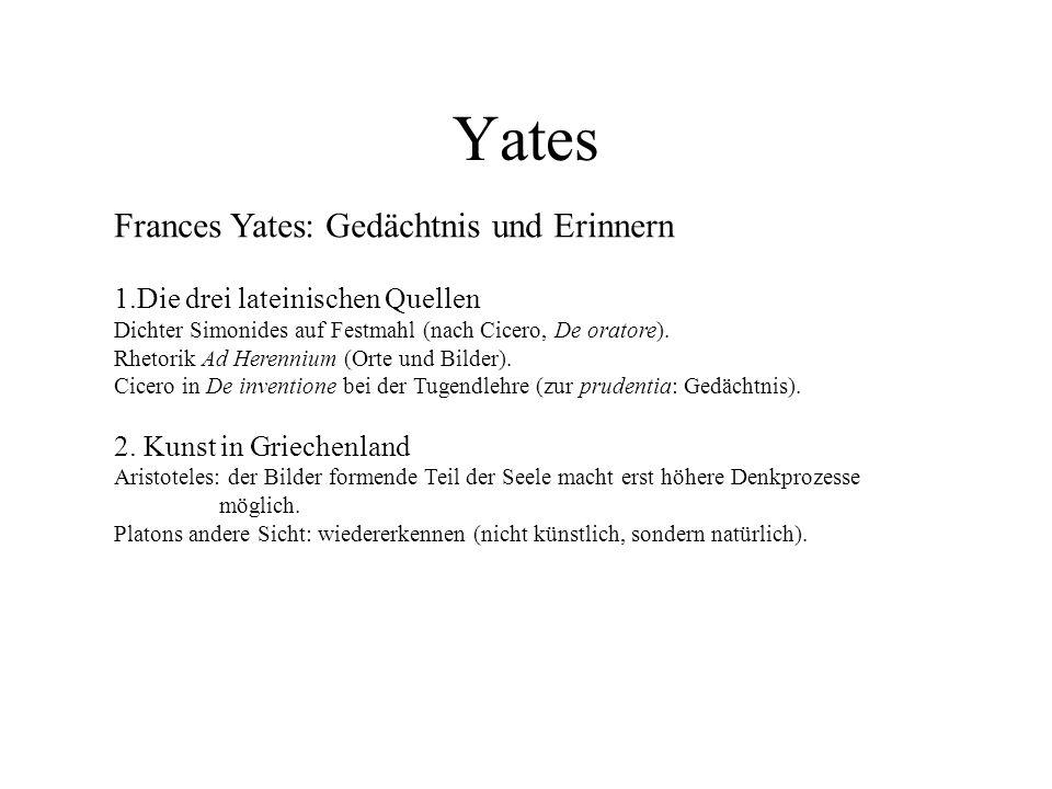 Yates Frances Yates: Gedächtnis und Erinnern