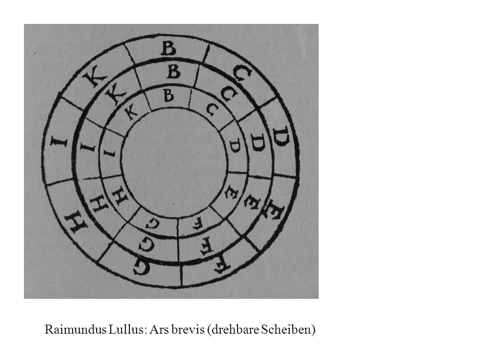 Raimundus Lullus: Ars brevis (drehbare Scheiben)