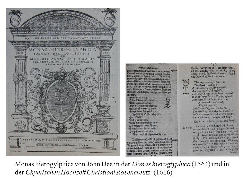 Monas hierogylphica von John Dee in der Monas hieroglyphica (1564) und in der Chymischen Hochzeit Christiani Rosencreutz' (1616)