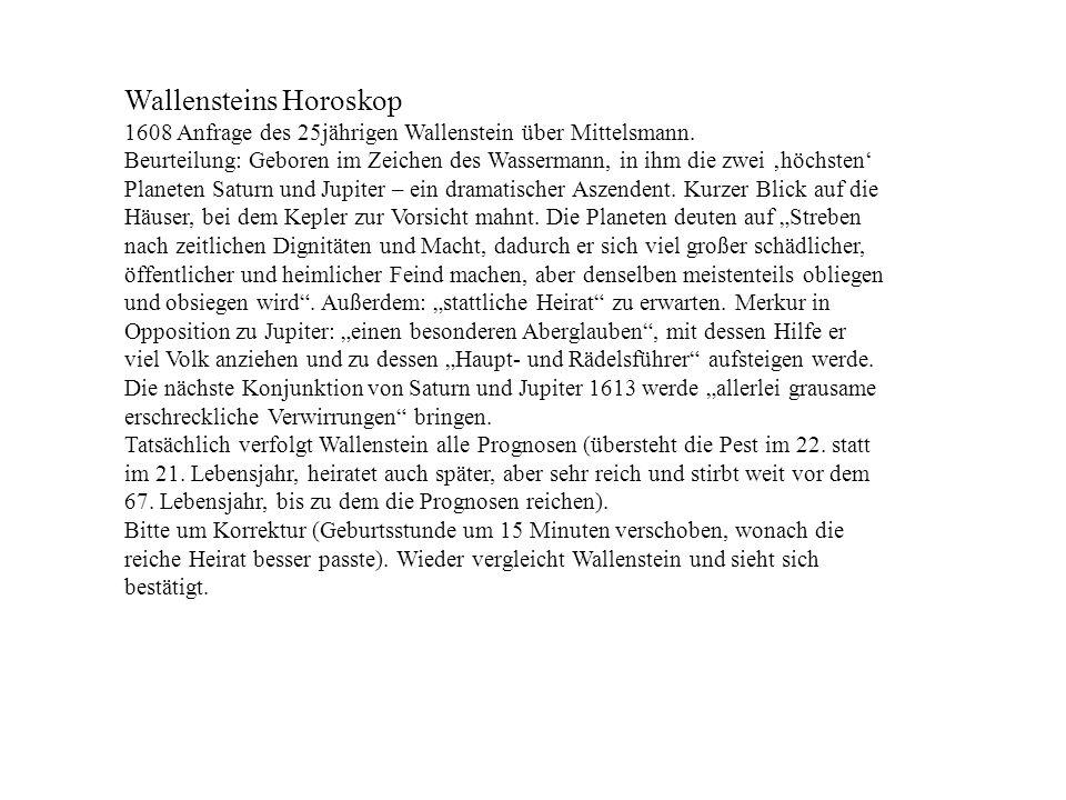 Wallensteins Horoskop