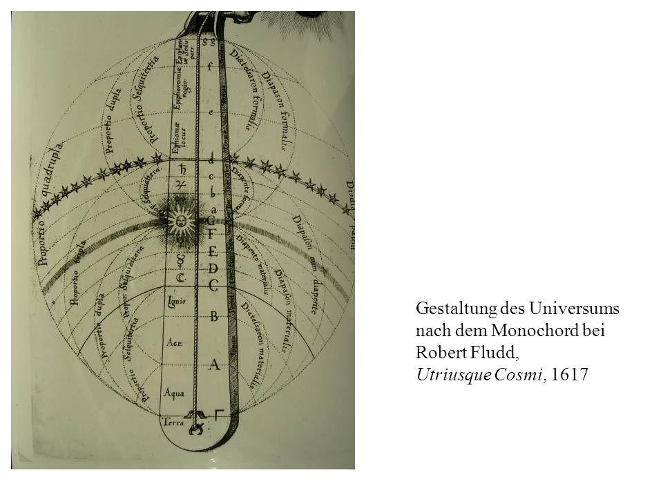 Gestaltung des Universums nach dem Monochord bei Robert Fludd, Utriusque Cosmi, 1617