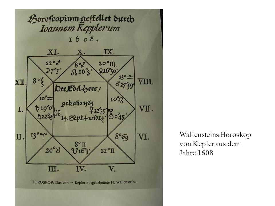 Wallensteins Horoskop von Kepler aus dem Jahre 1608