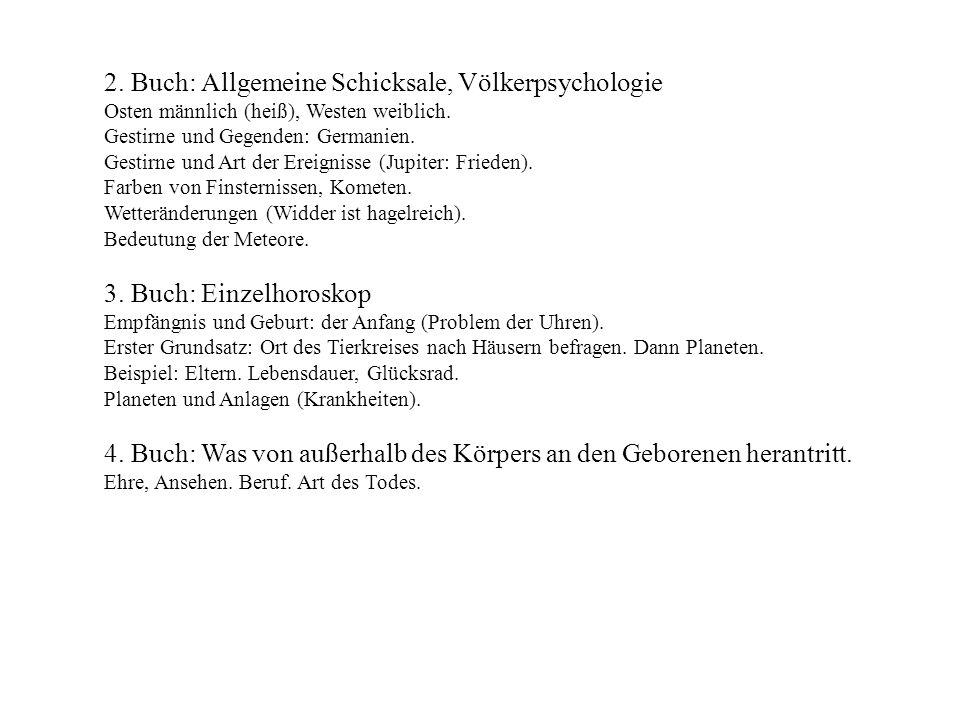 2. Buch: Allgemeine Schicksale, Völkerpsychologie