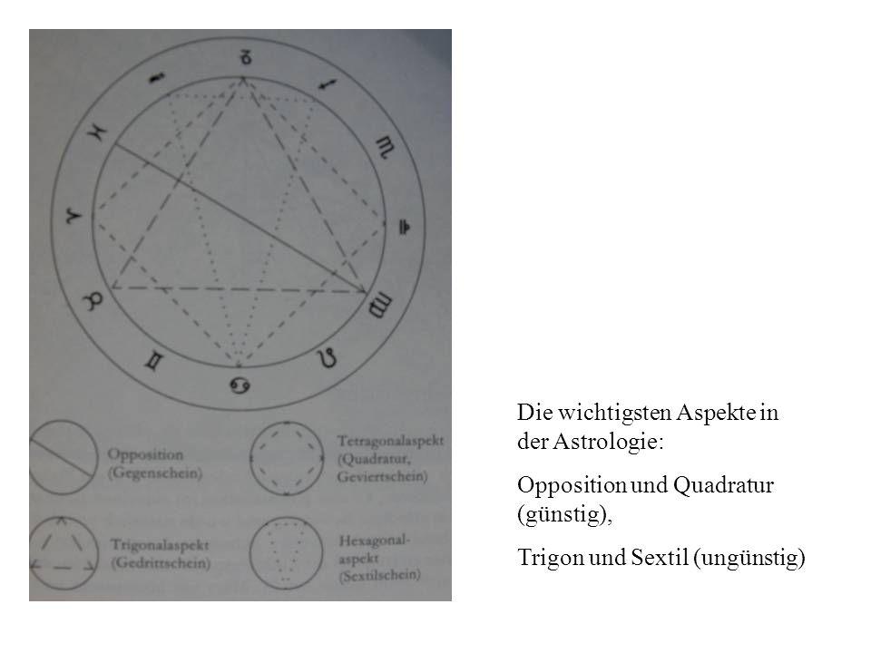 Die wichtigsten Aspekte in der Astrologie: