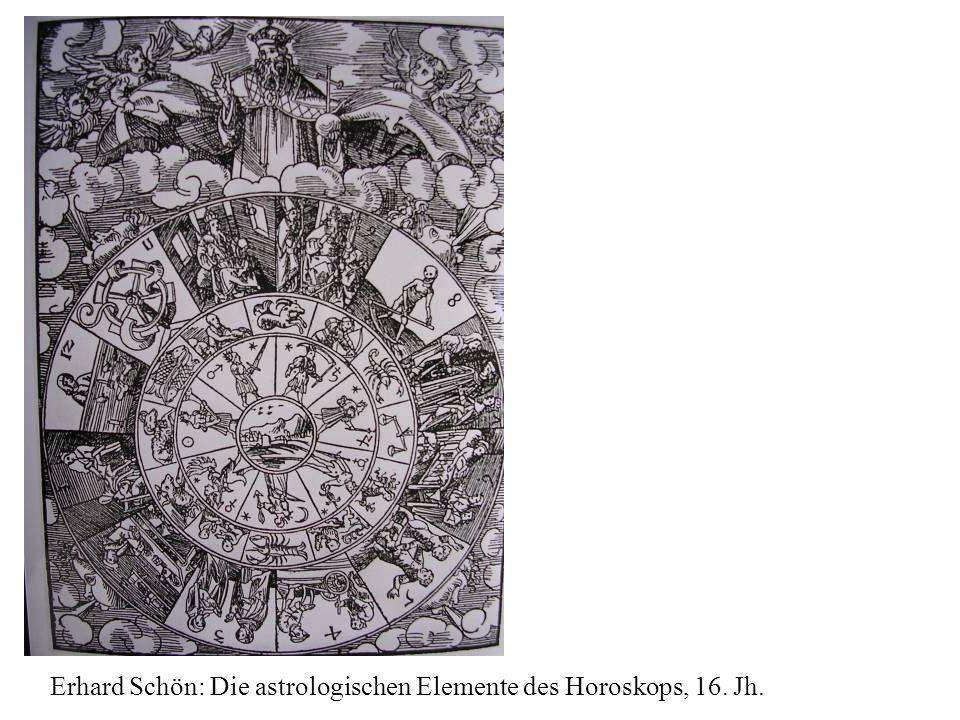 Erhard Schön: Die astrologischen Elemente des Horoskops, 16. Jh.