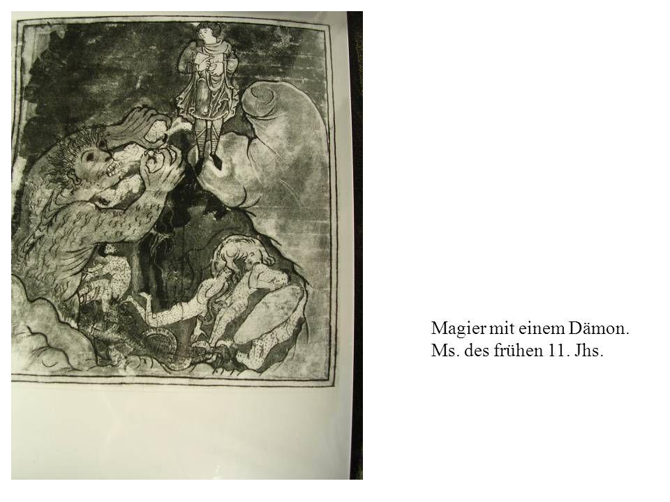 Magier mit einem Dämon. Ms. des frühen 11. Jhs.