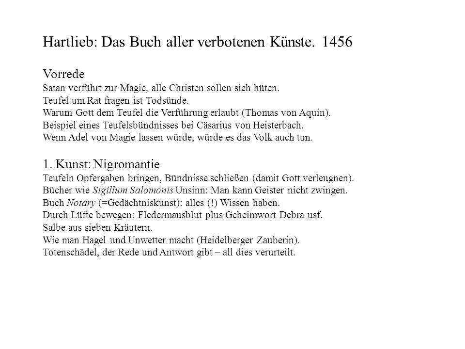 Hartlieb: Das Buch aller verbotenen Künste. 1456