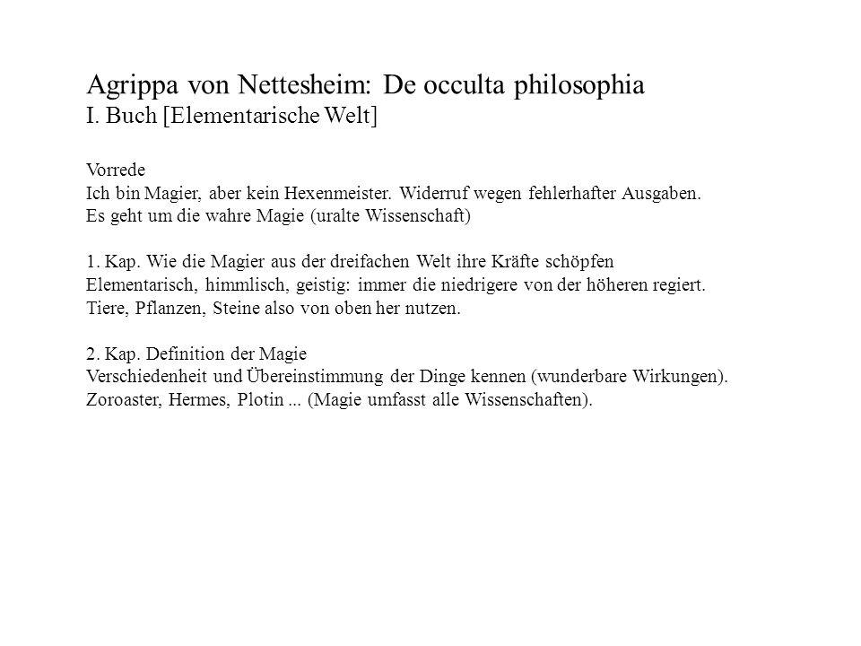 Agrippa von Nettesheim: De occulta philosophia