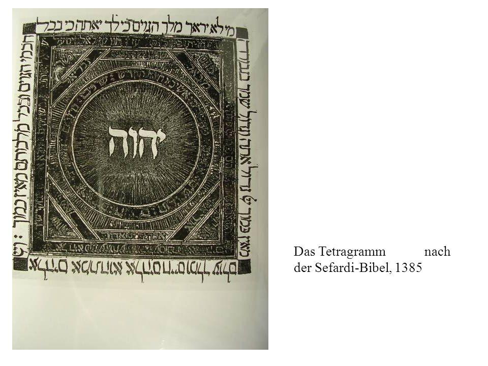 Das Tetragramm nach der Sefardi-Bibel, 1385